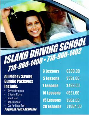7 Lesson Bundle Package at Island Driving School