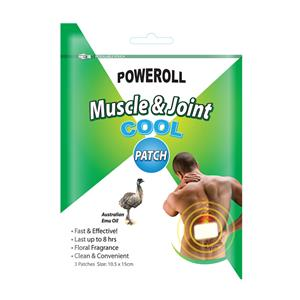 Poweroll Muscle & Joint Patch Cool x 3 Pack at First Things First Wellness Centre