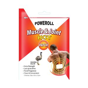 Poweroll Muscle & Joint Patch Hot x 3 Pack at First Things First Wellness Centre