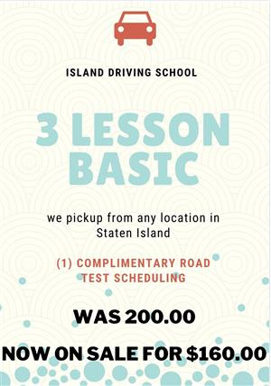 <p>This Basic Package includes 3 (1 hour) lessons & 1 Road test appointment.</p> <p>This service <em><strong>DOES NOT</strong></em> include the car for the road test</p>