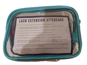 <p>Our very own The Beauty & Body Bar Branded Lash Extension Care Kit. A good aftercare routine is essential and crucial to extending the life of your lashes. Contains everything you need to cleanse & care for your lashes in between appointments and maintain full, healthy lashes.</p> <p><strong>KIT CONTENTS</strong></p> <ul> <li>1 x 60ml Foaming Lash Cleanser</li> <li>1 x Lash Cleansing Brush with Storage Case</li> <li>1 x Mascara Wandwith Protective Tube</li> <li>1 x Travel Pouch</li> </ul> <p>&nbsp;</p>