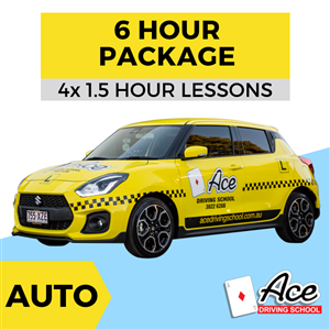 Auto 6 Hour Package 4x 1.5hr at Ace Driving School