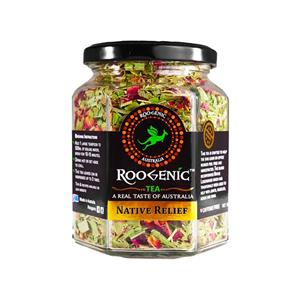 <p>The Roogenic Lemon Myrtle and Rose (Native Relief) is designed with two Australian bush foods including Lemon Myrtle and Native Lemongrass that have traditionally been used by Indigenous Australians to help support muscle recovery, headaches, inflammation, pain relief and overall wellbeing. With Native Lemongrass, in particular, being unique as ongoing research at Griffiths University have found that the native Australian superfood acts as a natural aspirin.<br />With a gorgeous lemony flavour and light fragrance, the tea can be enjoyed as a soothing hot tea after a meal or as a refreshing iced tea on a warm day, the tea itself also makes a great substitute to water and will ensure you are staying hydrated and have an increased supply of antioxidants in your diet.</p>