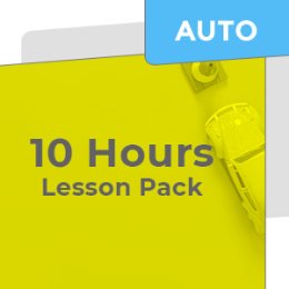 10 Hours Car Lesson Pack (Auto)