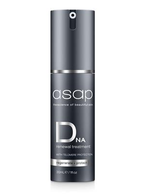 <p>A revolutionary anti-ageing treatment with unmatched concentrations of active ingredients, including telomere technology to assist in the repair of DNA damage and a multi-peptide complex to help restore skin firmness. Self-regenerative stem cell technology and a hydroelastic complex, boost cell renewal and assist in restoring optimal levels of hydration and elastin. Anti-pollution complex protects skin from accelerated ageing and other damaging effects of environmental pollution.</p> <p><strong>BENEFITS</strong></p> <p>Assists in the protection and repair of DNA damage.<br /><br />Enhances cellular longevity and vitality.<br /><br />Helps boost cell renewal to rapidly smooth fine lines and wrinkles.<br /><br />Assists in restoring optimal hydration and elastin, resulting in remarkably firmer and younger looking skin.<br /><br />Helps protect skin from the damaging effects of daily pollution.</p> <p><strong>SUITABLE FOR</strong></p> <p>All skin types, especially those concerned with ageing.</p> <p><strong>DIRECTIONS FOR USE</strong></p> <p>Use nightly for skin with visible signs of ageing, alternatively 2-3 times a week to maintain a youthful appearance. Apply one pump to thoroughly cleansed skin after serums and prior to moisturiser. Apply to face, neck and décolletage as part of your asap skin treatment program.</p>