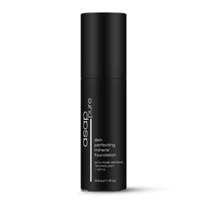 <p>A lightweight and long lasting formulation that provides a smooth, natural finish. Contains natural minerals, combined with revolutionary active technology to improve skin health, reduce the appearance of pores and stimulate skin cell production. Provides SPF15 and anti-pollution protection for healthier, younger looking skin.</p> <p><strong>BENEFITS</strong></p> <p>Lightweight and long lasting.<br /><br />Provides a smooth, natural finish.<br /><br />Helps reduce the appearance of pores.<br /><br />Stimulates skin cell production.<br /><br />Provides anti-pollution and SPF15 protection.<br /><br />Improves skin health.<br /><br />Available in four shades.</p> <p>&nbsp;</p> <p><strong>SUITABLE FOR</strong></p> <p>All skin types.</p> <p>&nbsp;</p> <p><strong>DIRECTIONS FOR USE</strong></p> <p>Apply to the centre of the face and then smooth outwards, blending towards the hairline, ears and neck. Finish with asap pure loose mineral powder.</p> <p>&nbsp;</p> <p>##### PLEASE CHECK THE ASAP WEBSITE TO CHECK COLOUR CHOICES TO MATCH YOUR SKIN TONE. COLOURS ARE</p> <p>COOL ONE - FAIR</p> <p>COOL TWO - FAIR TO MED</p> <p>WARM THREE - MED</p> <p>WARM FOUR - DARK</p>