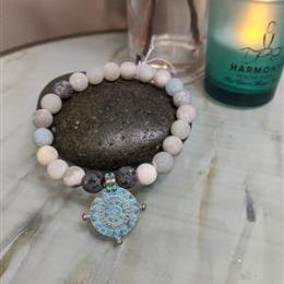 Amazonite Diffuser Bracelet M/L