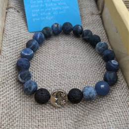 Lapis and Lava Diffuser Bracelet- L/XL