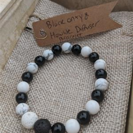 Howlite and Onyx Diffuser -M
