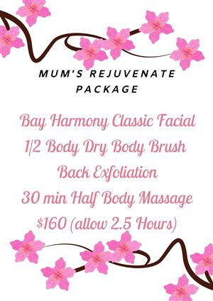 Mother's Day - Mum's Rejuvenate Package at Bay Harmony Skin & Body
