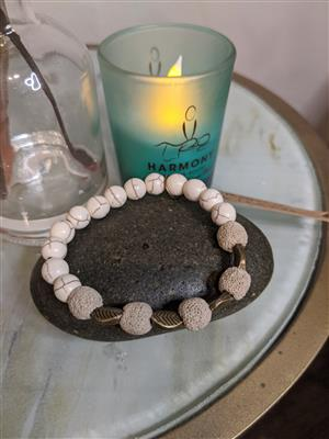 Magnesite Diffuser Bracelet - S at Harmony Healing Room
