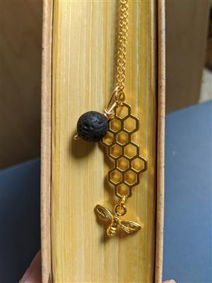 Lavastone Honeycomb Diffuser Necklace at Harmony Healing Room