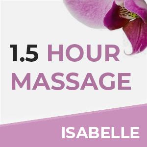 1hr 30min Massage With Isabelle at Sense of Balance Massage Therapy & Reflexology