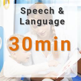 Speech & Language Therapy - 30mins