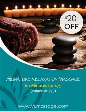 Signature Relaxation Massage - 90 Minutes at Vital Living WellSpa