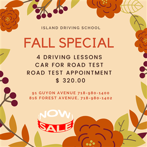 FALL SPECIAL at Island Driving School
