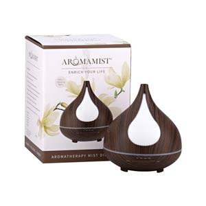 Aromamatic Ultrasonic Mist Diffuser Dark Woodgrain Anise at First Things First Wellness Centre