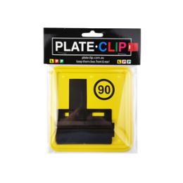 2 x Black Plate Clips with L Plates