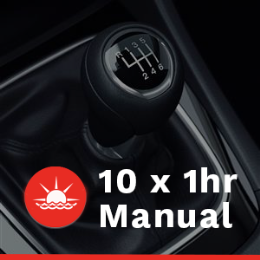 10 x 1 hour Manual Car Lessons