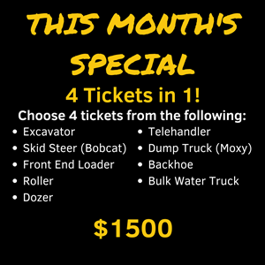 <p>4-in-1 Earthmoving machine deal - Excavator, Skid Steer (bobcat), Front-end Loader and Roller. </p>