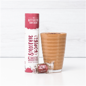 The Motivator Raw Cacao 5 Smoothie Bomb Tube at First Things First Wellness Centre