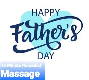 Fathers Day Special 45 min Remedial Massage gift voucher. at Time to Unwind Natural Therapies Clinic