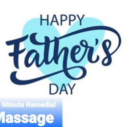 Fathers Day Special 30 min Remedial Massage gift voucher