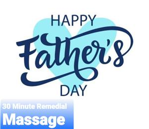 Fathers Day Special 30 min Remedial Massage gift voucher at Time to Unwind Natural Therapies Clinic