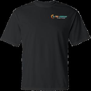 Apparel: Dry Wick Shirt  - Black - M at Tri-Covery Massage & Flexibility