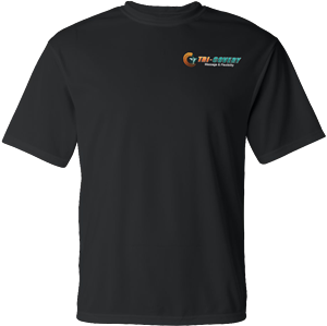 Apparel: Dry Wick Shirt - Black - L at Tri-Covery Massage & Flexibility
