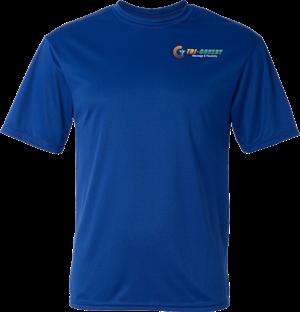 Apparel: Dry Wick Shirt - Royal - L at Tri-Covery Massage & Flexibility