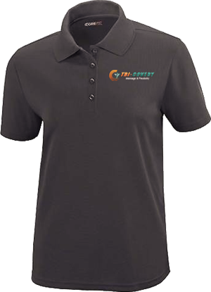 Apparel: Polo - Women - Carbon - S at Tri-Covery Massage & Flexibility