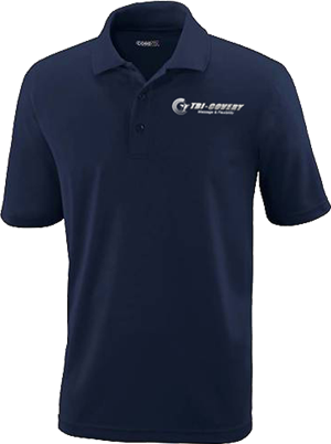 Polo - Men - Navy - L at Tri-Covery Massage & Flexibility