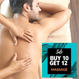 Buy 10 Get 12- Massage 1 hour