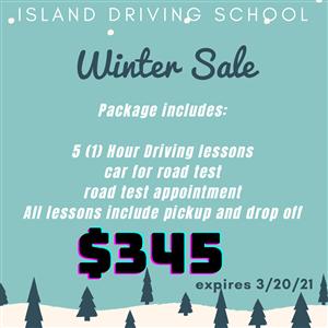Winter Sale at Island Driving School