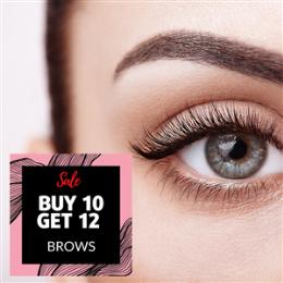 Buy 10 Get 12- Eyebrow Shape, Wax & Tint