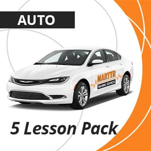 5 Automatic Lesson Package at Martyr Training Services