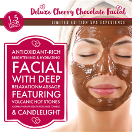 Deluxe Cherry Chocolate Facial - Limited Edition Spa Experience