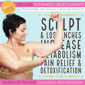 Deluxe Infrared BodyWrap,  Pkg of 3 (Save $15% + $30 OFF) at Vital Living WellSpa