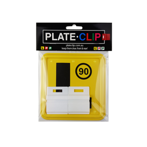 2 x White Plate Clips with L Plates at Learn Drive Survive Driving School