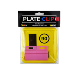 2 x Pink Plate Clips with L Plates