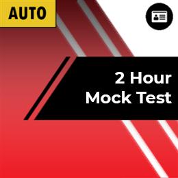 2 Hour Mock Test Preparation only