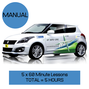 5 Manual Lessons Package  at Metro Driving School