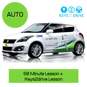 Keys2Drive Auto Package: Please note not available on the Gold Coast at Metro Driving School