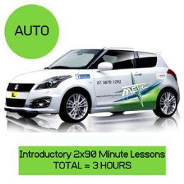 Introductory 2 x 90 min Auto Lessons