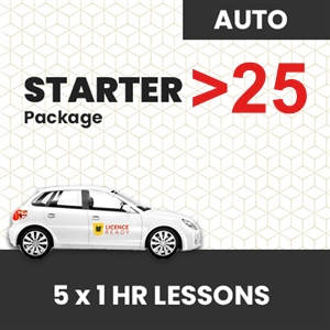 OVER 25 age group AUTOMATIC Starter Pack at Licence Ready