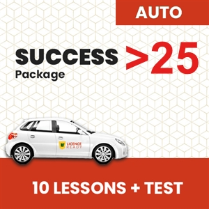 OVER 25 age group AUTOMATIC Success Pack at Licence Ready