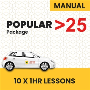 OVER 25 age group Manual Popular Pack at Licence Ready