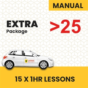 OVER 25 age group Manual Extra pack at Licence Ready