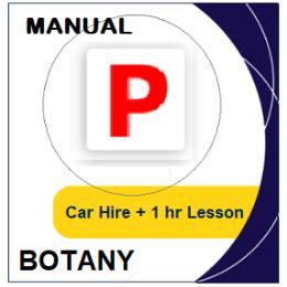 Manual Car Hire & Lesson - Botany